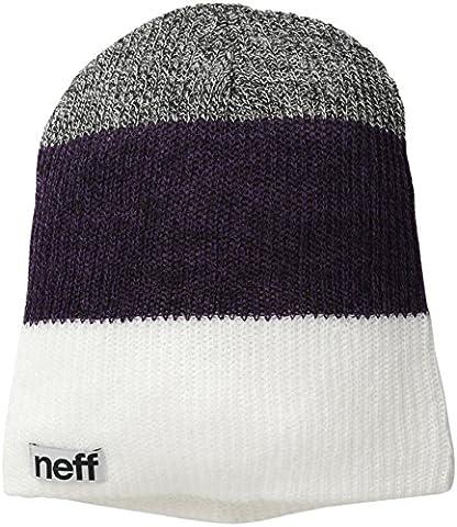 Neff Men's Trio Beanie - White/Purple/Charcoal, One (Oggi Acrilico)