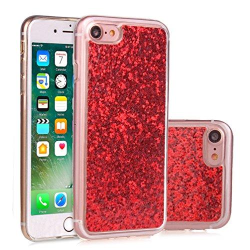 iPhone 7 4,7 Coque, Voguecase Bling TPU avec Absorption de Choc, Etui Silicone Souple, Légère / Ajustement Parfait Coque Shell Housse Cover pour Apple iPhone 7 4,7 (Bleu)+ Gratuit stylet l'écran aléat Rouge