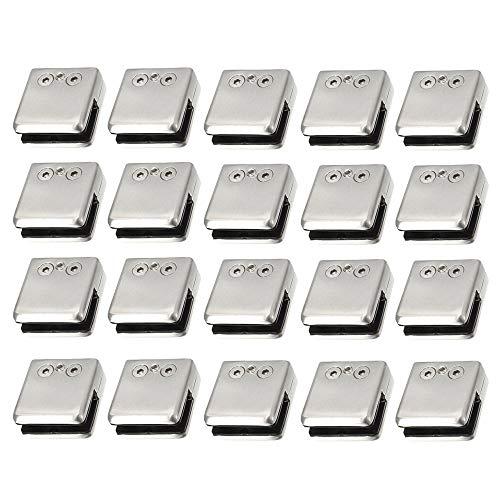 20PCS 8.0-10.0mm Acero Inoxidable Estante de la Escalera Cristal Sostenedor Abrazadera Soporte Base Plana 8-10mm Abrazaderas de Vidrio de Acero Inoxidable 304 Soporte de Vidrio