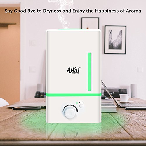 Allin Exporters Electric Ultrasonic Diffuser and Humidifier With 7 LED Color Effects Lights