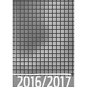 BRUNNEN Schülerkalender/Schüler-Tagebuch, 2 Seiten = 1 Woche, 14,8x21cm (A5), Einband wattiert Grafik Grau, Kalendarium 2016/17 (107298607)