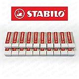 Stabilo Legend Kunststoff-Radiergummi, Weiß, 20 Stück