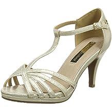 XTI Zapatos de tacón - Sandalias con tacón para mujer