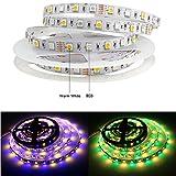 Tesfish DC12V RGBWW LED Streifen RGB + warmweiß Mischfarbe 5M 300LEDs 5050 IP20 Nicht Wasserdicht Streifen Licht