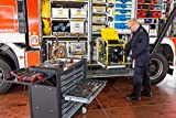 VIGOR Werkstattwagen mit Edelstahl-Arbeitsplatte, inkl. Sortiment (375teilig, 8 Schubladen mit je 25kg Tragkraft, insgesamt 500kg Tragkraft) V4481-X/375