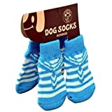 #1: PetSutra Anti Slip Dog Socks with Rubber Grippers & Soft Knitting, Color May Vary (Medium)