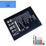 E-yiiviil Li-ion Replacement AKKU LG V20 H910 H918 LS997 US996 VS995 New Replacement Battery BL-44E1F 3200mAh 3.85V with Installation Tools