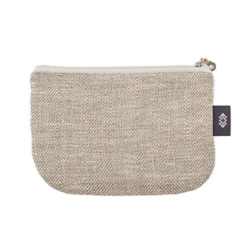 Kleine weiße Geldbörse Kosmetiktasche - Doppellagige 100% Leinen - Geldbeutel - iPhone Hülle - Kleine Make-up Tasche - Reisetasche - Reißverschluss Tasche | Handgefertigte durch ThingStore - Unisex Münzen-geldbeutel