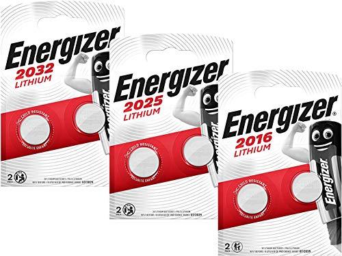 Oferta de Energizer 10111769B CR 2016/2025/2032 - Juego de Pilas de botón de Litio, Pack de 3, Color Plateado