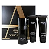 Giorgio Armani Code Homme set regalo, Men (Eau de Toilette, 50 ML + GEL DOCCIA, 75 ML + BALSAMO Dopobarba, 75 ML)
