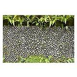 Bilderwelten Vliestapete - Steinwand mit Pflanzen - Fototapete Breit Vlies Tapete Wandtapete Wandbild Foto 3D Fototapete, Größe HxB: 225cm x 336cm