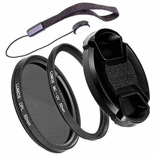 LUMOS PRO Slim Filter Set 52mm | Polfilter zirkular MC UV Filter Objektivdeckel | Zubehör für Kamera Objektiv Ø 52 mm