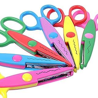 UCEC 6 farbenfroh Scheren für dem Rand des dekorativen Papier und ideal für Lehrer, Handwerk, Scrapbooking, Kinder-Design