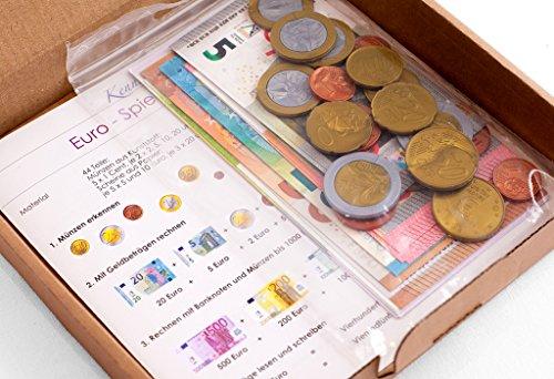 Euro - Spielgeldsatz, 44 Teile (Euro-schein-muster)