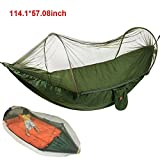 Camping Hängematte mit Zipper Moskito Netze egymcom Multifunktionale Outdoor Pop-Out