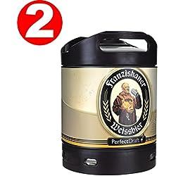 2 x Franziskaner Perfect Draft Weissbier barril de cerveza de trigo 6 litro 5,0% vol.