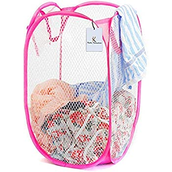 Kuber Industries Nylon Mesh Laundry Basket (CTKTC1475), 30 Ltr