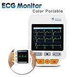 Heal Force Überwachung Herz Monitor Gesundheitspfleger Ekg Gerät Mit Software Patienten Monitor PC-180D , 30 St. /10 St.und 30 S Unterstützung, Weiß