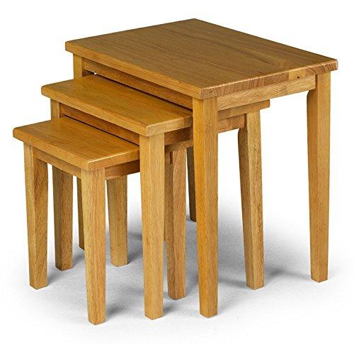 julian bowen cleo nest of tables light oak search. Black Bedroom Furniture Sets. Home Design Ideas