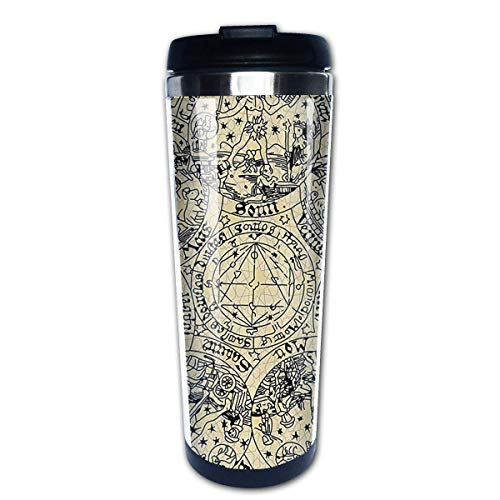 Series of Ancient Mystic Esoteric Old Map Coffee Mug Leakproof Insulated Thermos Cup Stainless Steel Coffee Tumbler -