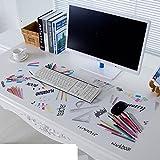 Tischdecke Pvc Mouse pad Tastatur-pad Untersetzer Wasserdicht] Weiche Glas Kunststoff Kristall-teller-F 30x80cm(12x31inch)