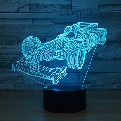 Neue rennwagen Coupe Doppeltüren Sportwagen 3DIllusion Lampe Kinder Nachtlicht Auto Stil Lampe