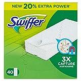 Swiffer - Recharges Lingettes Sèches pour Balai Attrape-Poussière - 40Lingettes (Lot de 3)