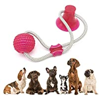 Peedeu Multifunction Pet Molar Bite Toy Dog Ropes Toy,Durable Dog Tug Rope Ball Toy With Suction Cup - Tugging, Pulling, Chewing, Playing, Adult Dogs And Puppies