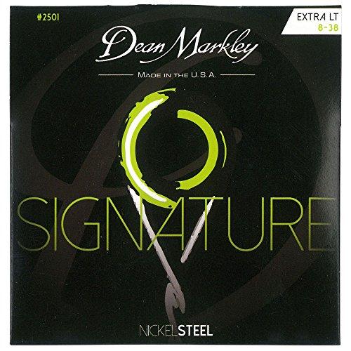 Dean Markley 2501 Signature Nickel Steel XL Saiten für E-Gitarre, Stärke .008-.038