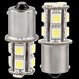 2 x 1156 BA15S 13 LED 5050 SMD Feux Eclairage Ampoule Arrière Recul Blanc 12V