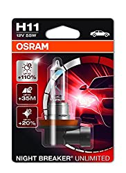 Osram Night Breaker Unlimited H11, Halogen-headlamp Bulb, 64211nbu-01b, 12v, Single Blister (1 Piece)