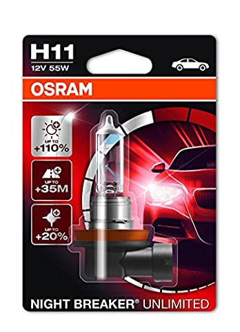 OSRAM NIGHT BREAKER UNLIMITED H11, halogen-headlamp bulb, 64211NBU-01B, 12V, single blister (1
