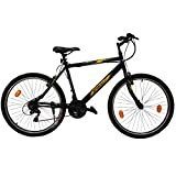 #3: SPIRALL SXS 3.0 Mountain Bike 26 Inch Black, Kick stand, bell & Water bottle cage free