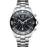 Davosa Swiss Nautic Star Chrono 16347345 Mens Wrist Watch Stainless Steel, Black