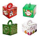 Scatole regalo Natale 32 Pcs Confezioni Regalo dolcetti,biscotti, dolci,caramelle scatole regalo per Natale,compleanni,vacanze,lauree, matrimoni il Ringraziamento,i regali di compleanno e il partito