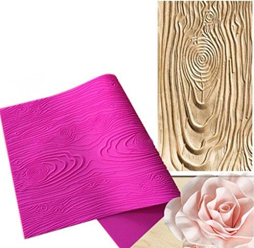Fondant - Alfombrilla de impresión para decoración de tartas, diseño de corteza...