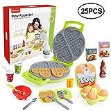 BeebeeRun Giocattolo da Cucina 25 Pezzi,Giocattoli Alimenti Gioco Giocattolo Bambini 1 2 3 Anni