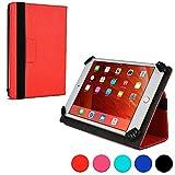 Universel 7 – 8'' tablette étui-portefeuille, COOPER INFINITE UNIVERSAL étui-portefeuille pour business, école, voyage, transport, étui de protection avec support intégré pour 7 – 8'' tablette (Rouge)