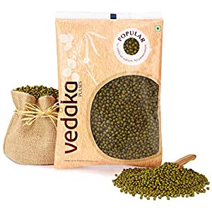 Amazon Brand – Vedaka Popular Green Moong Whole / Sabut, 1 kg
