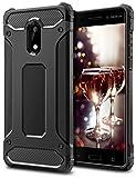 Nokia 6 Hülle, Coolden Premium [Armor Serie] Outdoor Stoßfest Handyhülle Silikon TPU + PC Bumper Cover Doppelschichter Schutz Hülle für Nokia 6 (Schwarz)