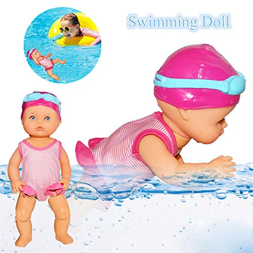 Allowevt Kinder Wasserspielzeug Ich kann Schwimmen Mama Ich kann Schwimmen Puppe für Jungen und Mädchen Kid & Toddler Badespielzeug Geschenk gaudily