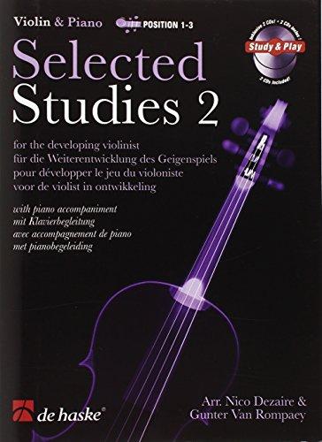 Violin and piano, position 1-3 : Selected Studies 2  pour développer le jeu du violoniste avec accompagnement de piano