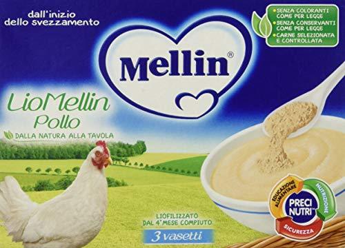 Mellin Liomellin Pollo Liofilizzato 3 Vasetti da 10 g