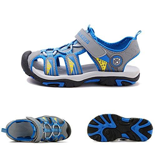 SITAILE Kinder Schuhe Geschlossene Sandalen Outdoor Sportshuhe Walkingschuhe Grau