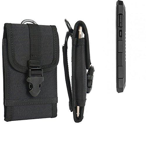 K-S-Trade Handyhülle für Cyrus CS 24 Gürteltasche Handytasche Gürtel Tasche Schutzhülle Robuste Handy Schutz Hülle Tasche Outdoor schwarz