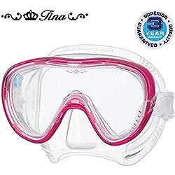 Tusa Tina Masque de plongée sous-marine natation snorkeling zircon femme -rose