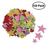 Glitter Schaumstoff Sticker Selbstklebendes Stern-Miniherz-dekorativer Aufkleber für Wand-DIY Fertigkeit-Verzierung Satz von 150