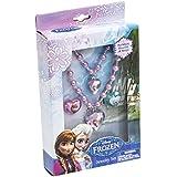 Disney Die Eiskönigin Elsa & Anna Mädchen Schmuckset: Armband, Halskettchen, 2 Ringe - violett