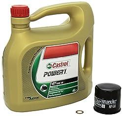 Castrol Power1 (10W-40) Ölwechsel-Set Suzuki Intruder M 1800 R2 (VZR 1800 R2), Bj. 08-09 - Motoröl, HiFlo Ölfilter und Dichtring
