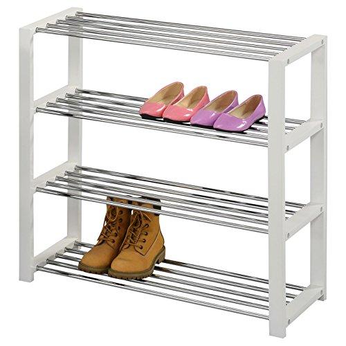 IDIMEX Schuhregal Arina Schuhablage Schuhständer Schuhschrank Schuhbank 4 Böden in weiß